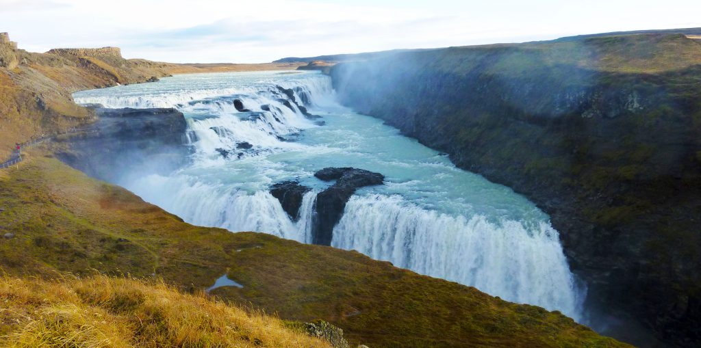 Gulfoss der zweistufige Wasserfall